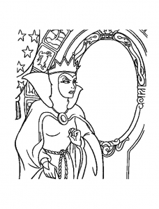 Coloring page snow white free to color for children