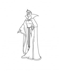 Coloring page snow white for kids