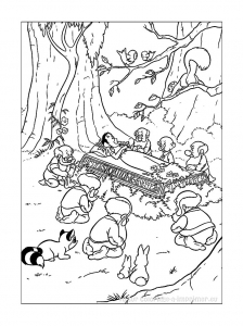 Coloring page snow white to print for free