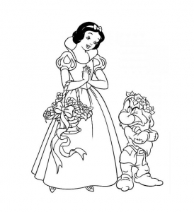 Coloring page snow white for children