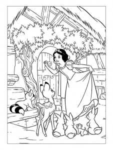 Coloring page snow white to download for free
