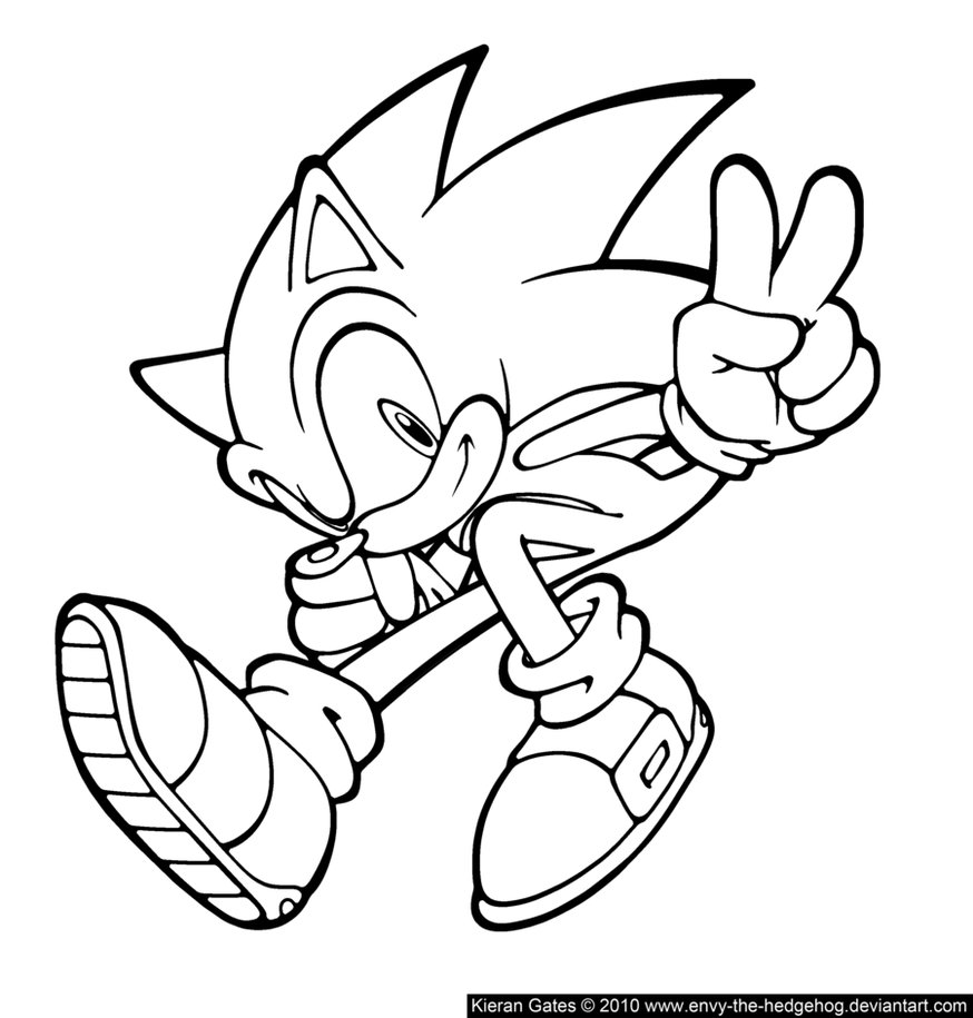 Sonic to download for free - Sonic Kids Coloring Pages