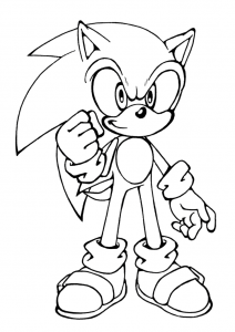 Coloring page sonic for kids