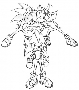 Coloring page sonic to print