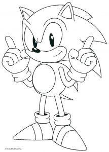Coloring page sonic to download for free