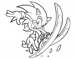 Coloring page sonic to download