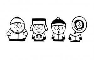 Coloring page south park free to color for children