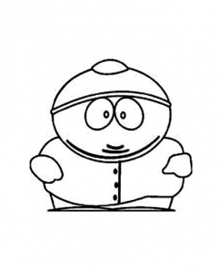 Coloring page south park for children