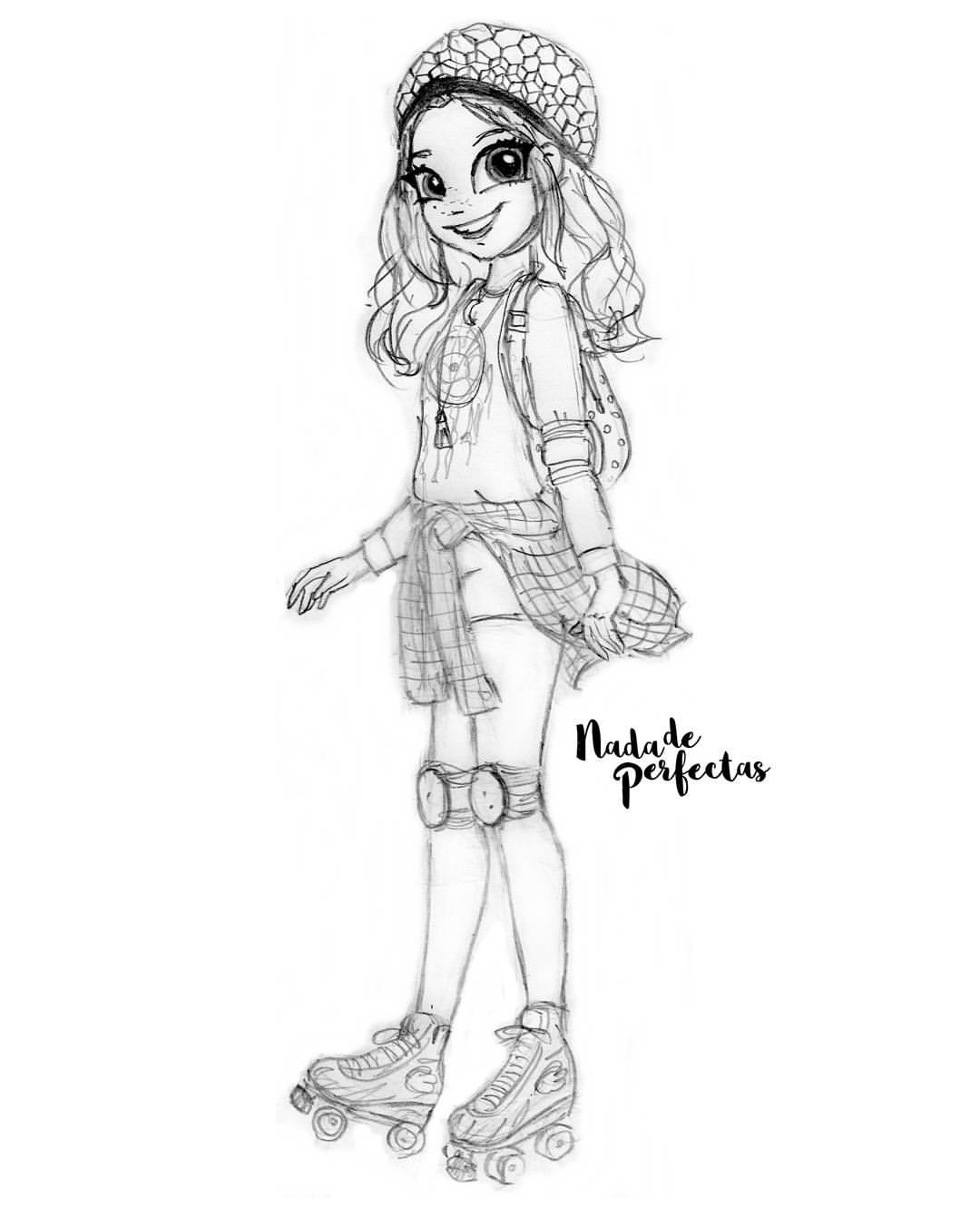 Soy Luna coloring page to print and color for free
