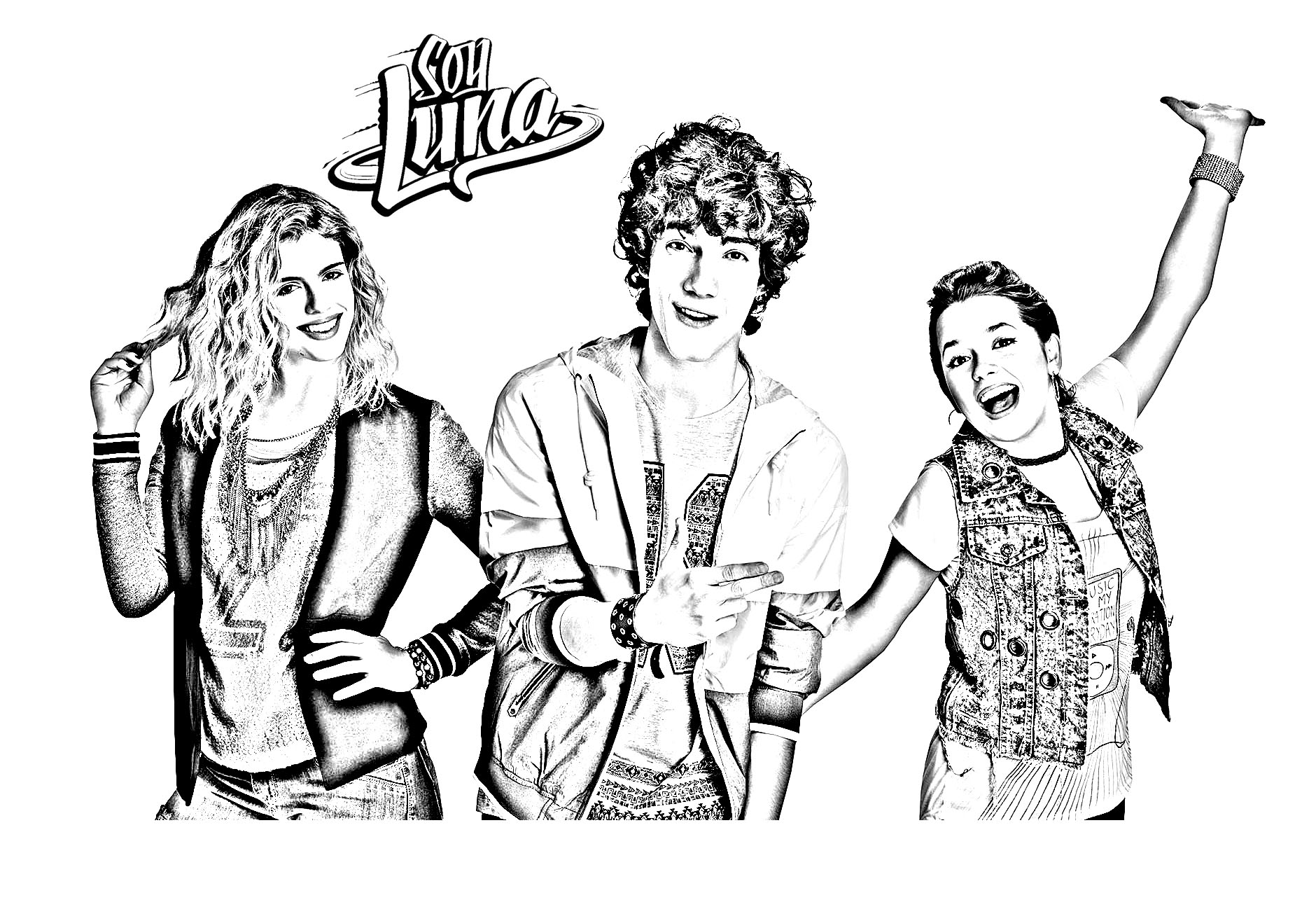 Soy Luna To Color For Kids Soy Luna Kids Coloring Pages