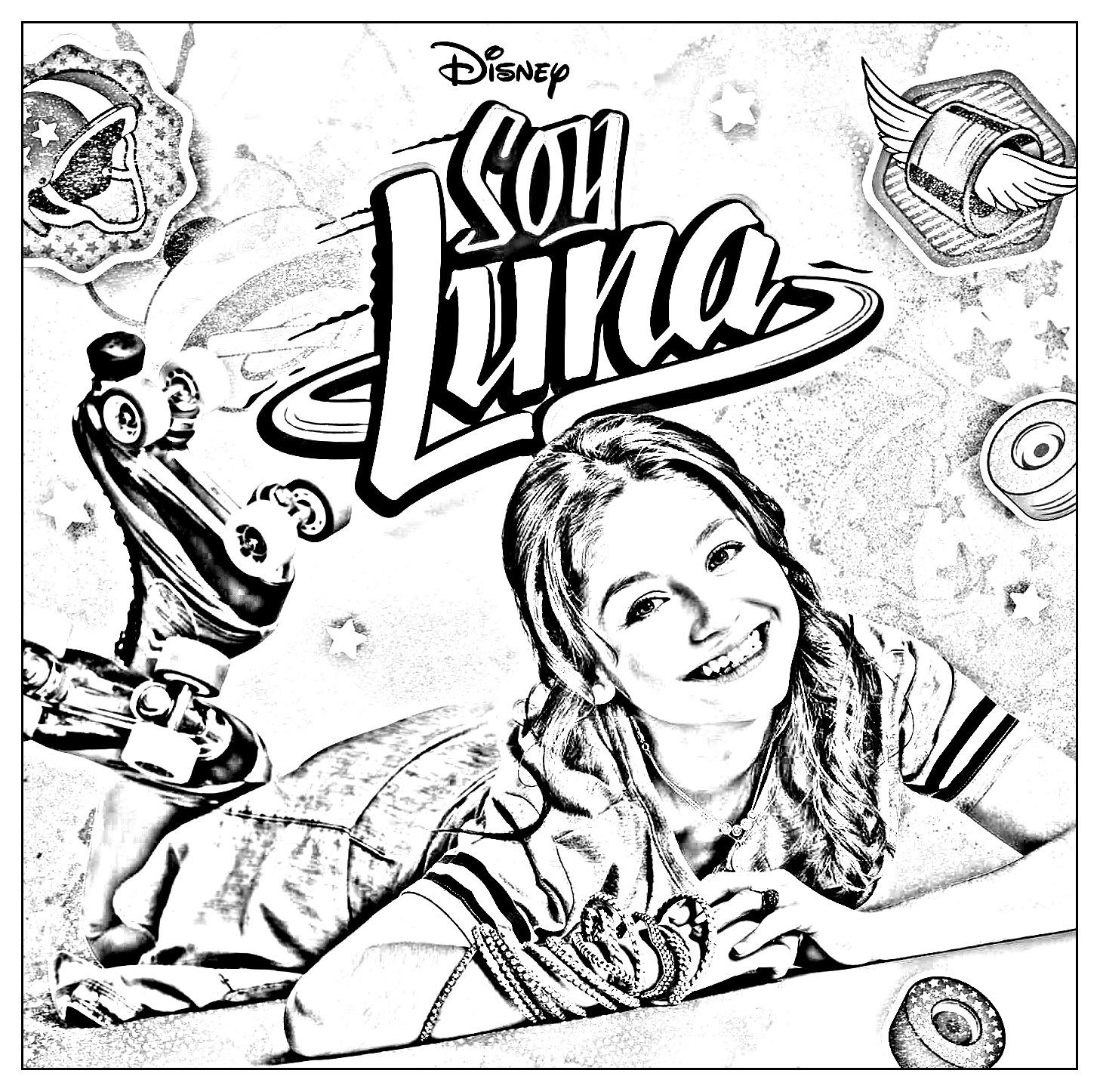 Soy Luna coloring page to print and color