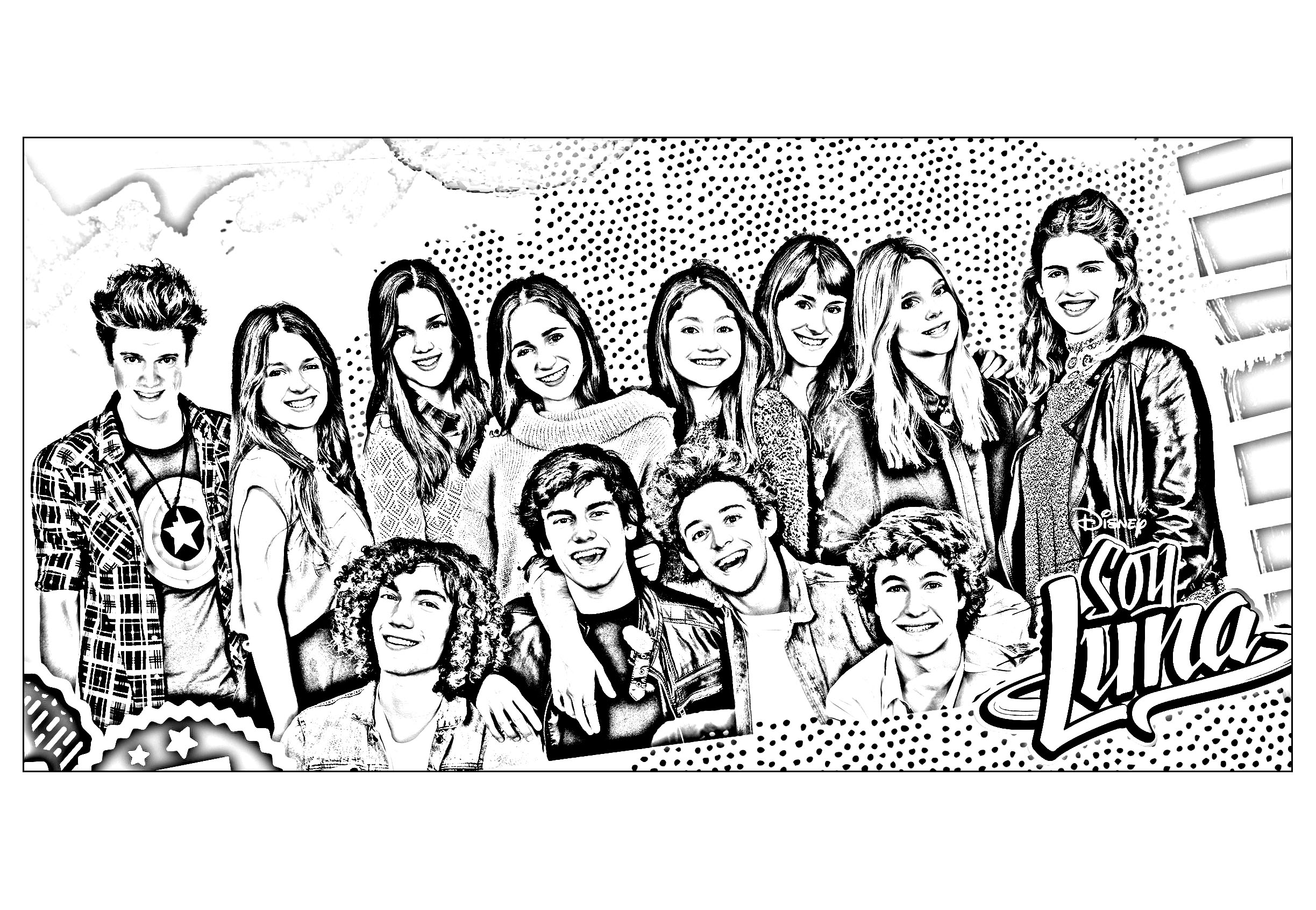 Free Soy Luna coloring page to print and color