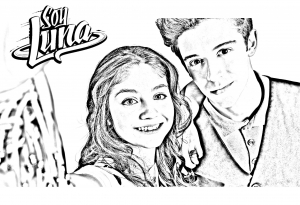 Coloring page soy luna to download for free