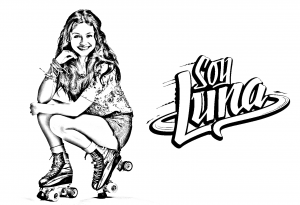 Coloring page soy luna for kids