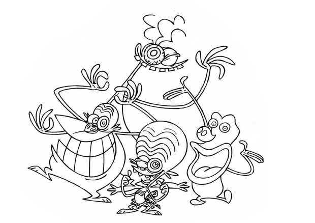 Free Space Zinzins coloring page to download