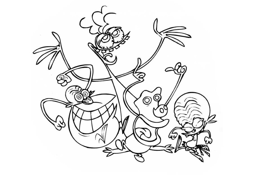Printable Space Zinzins coloring page to print and color