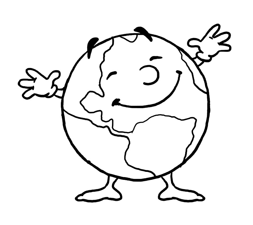 Free Space coloring page to print and color, for kids