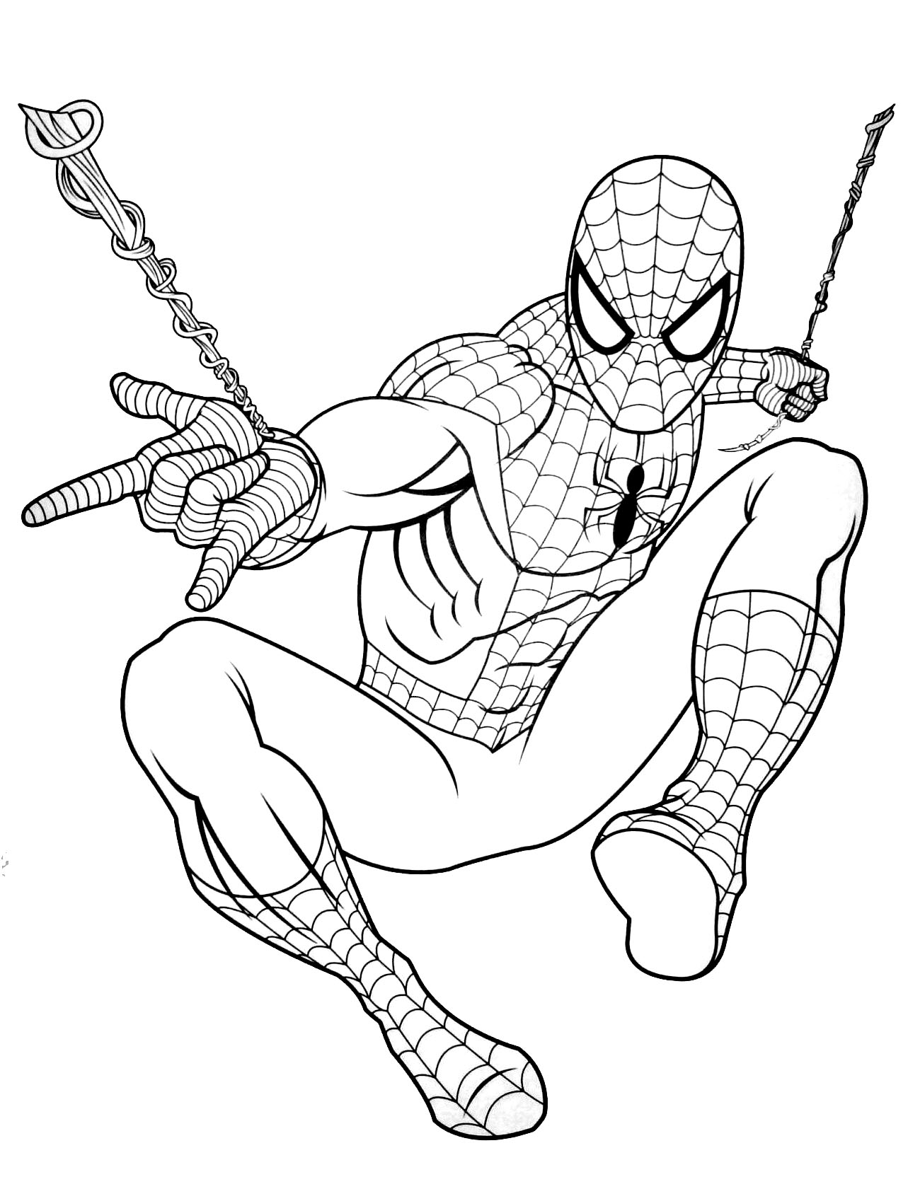 Spiderman to download for free - Spiderman Kids Coloring Pages