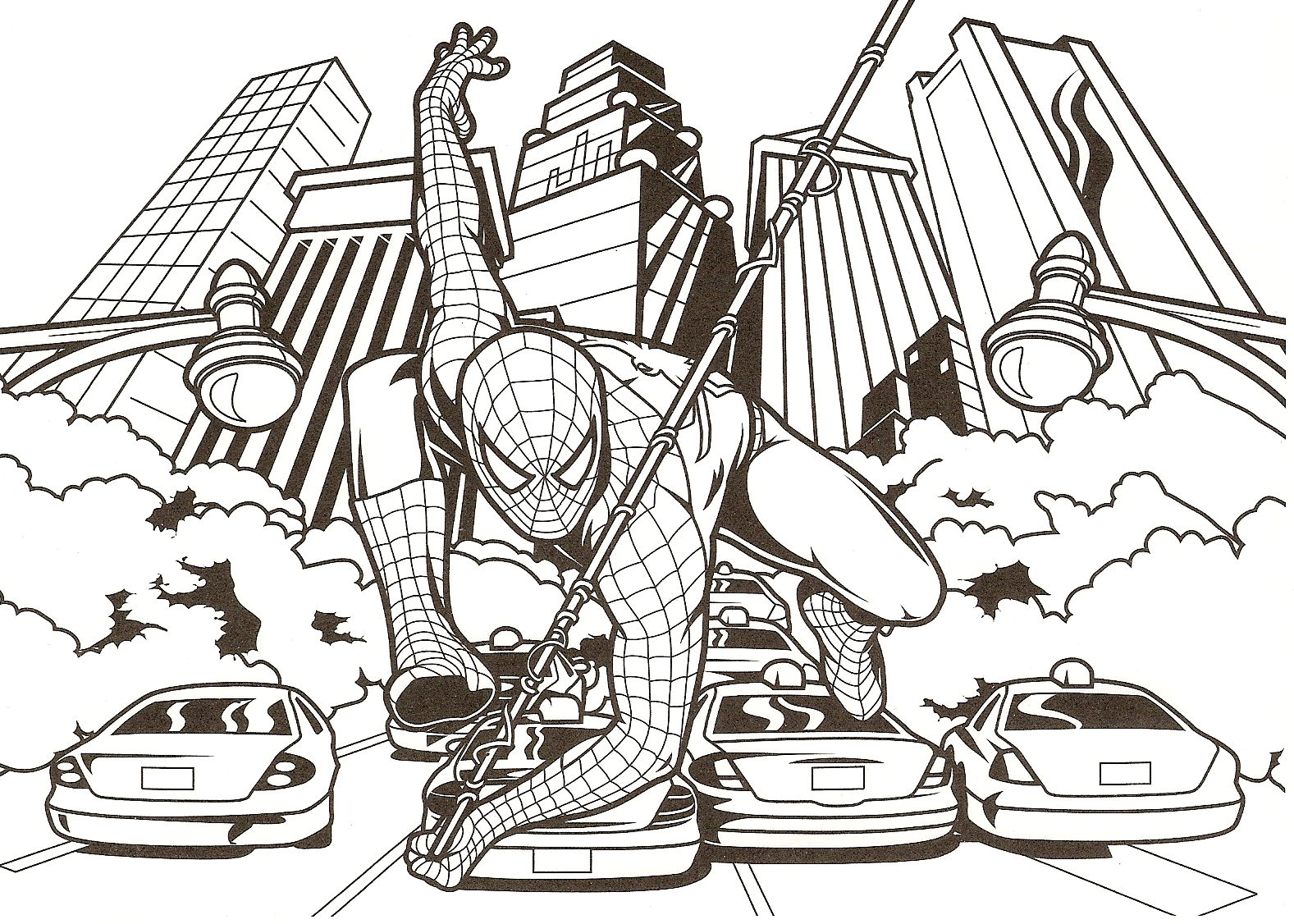 Spiderman to download for free - Spiderman - Coloring pages for kids