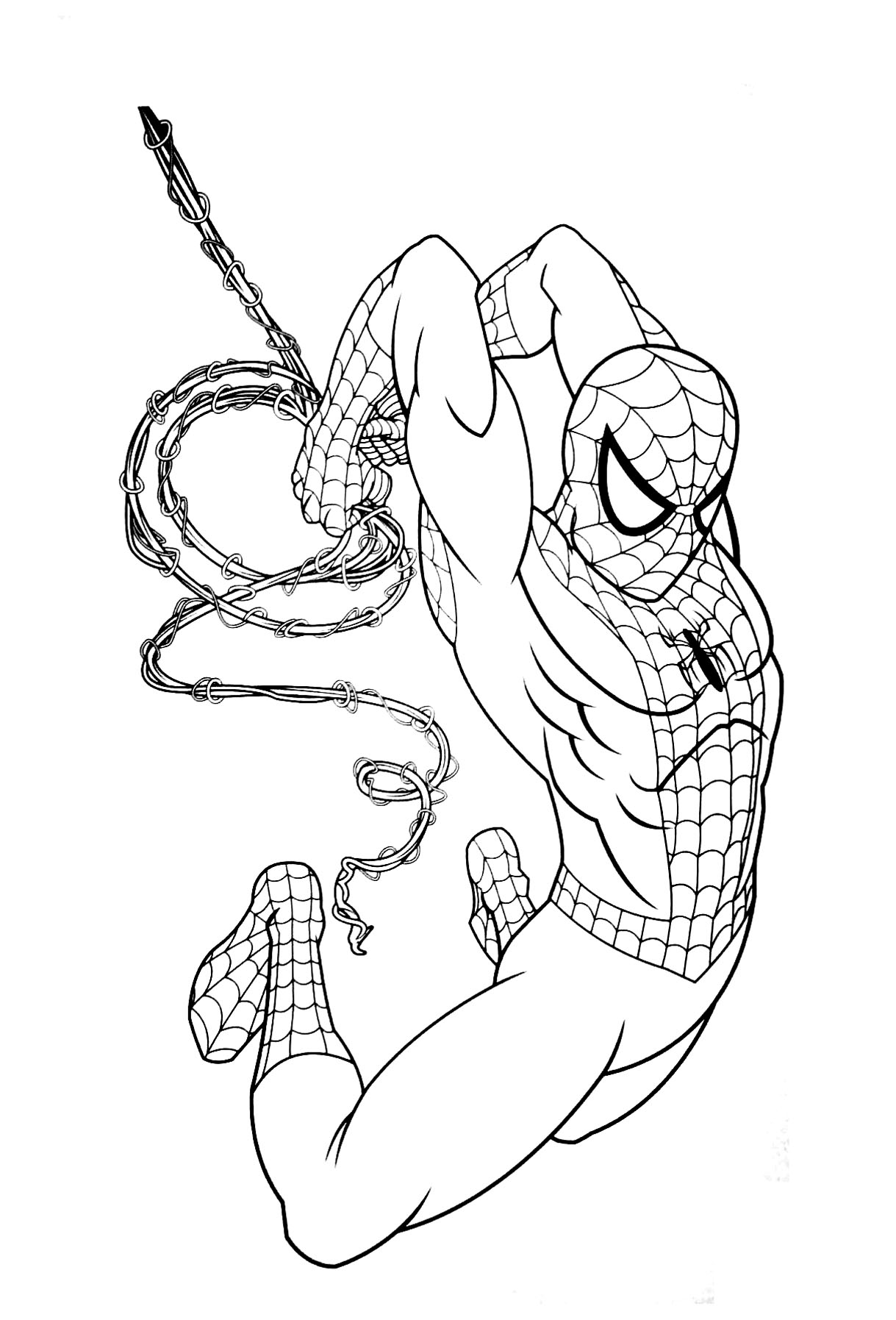 Free Spiderman Coloring Page To Print And Color