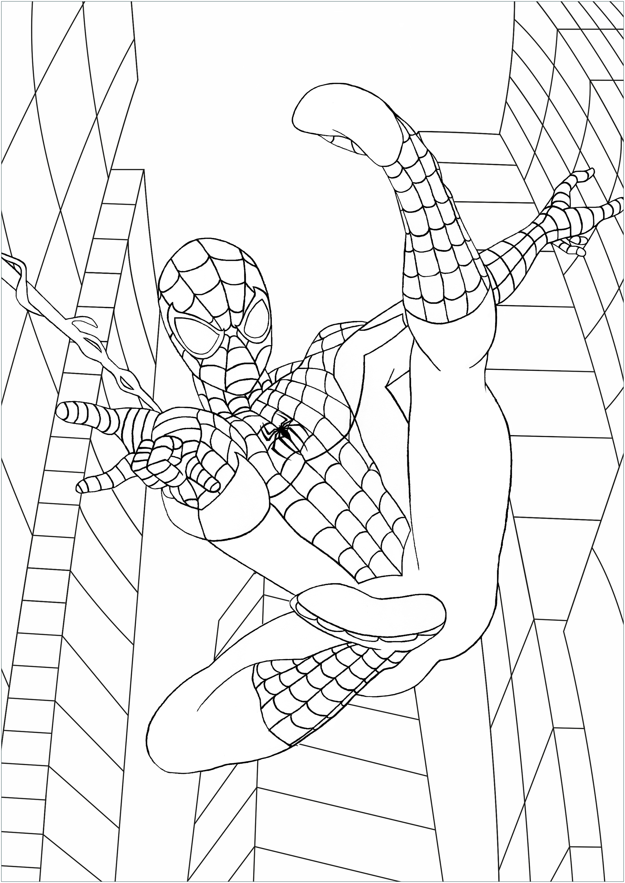 Spiderman free to color for kids - Spiderman Kids Coloring ...