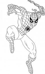 Coloring page spiderman free to color for kids