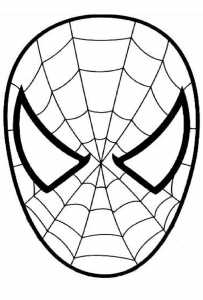 Coloring page spiderman to print