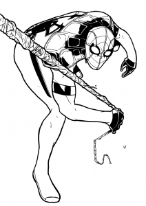 Coloring page spiderman to color for children