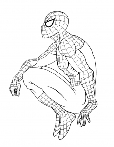 Coloring page spiderman to print for free