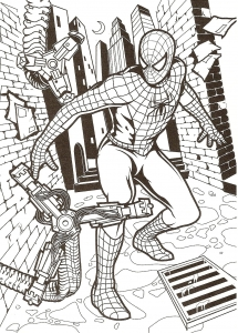 Coloring page spiderman to download for free