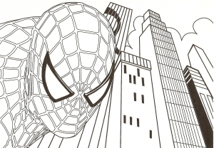 Coloring page spiderman for kids