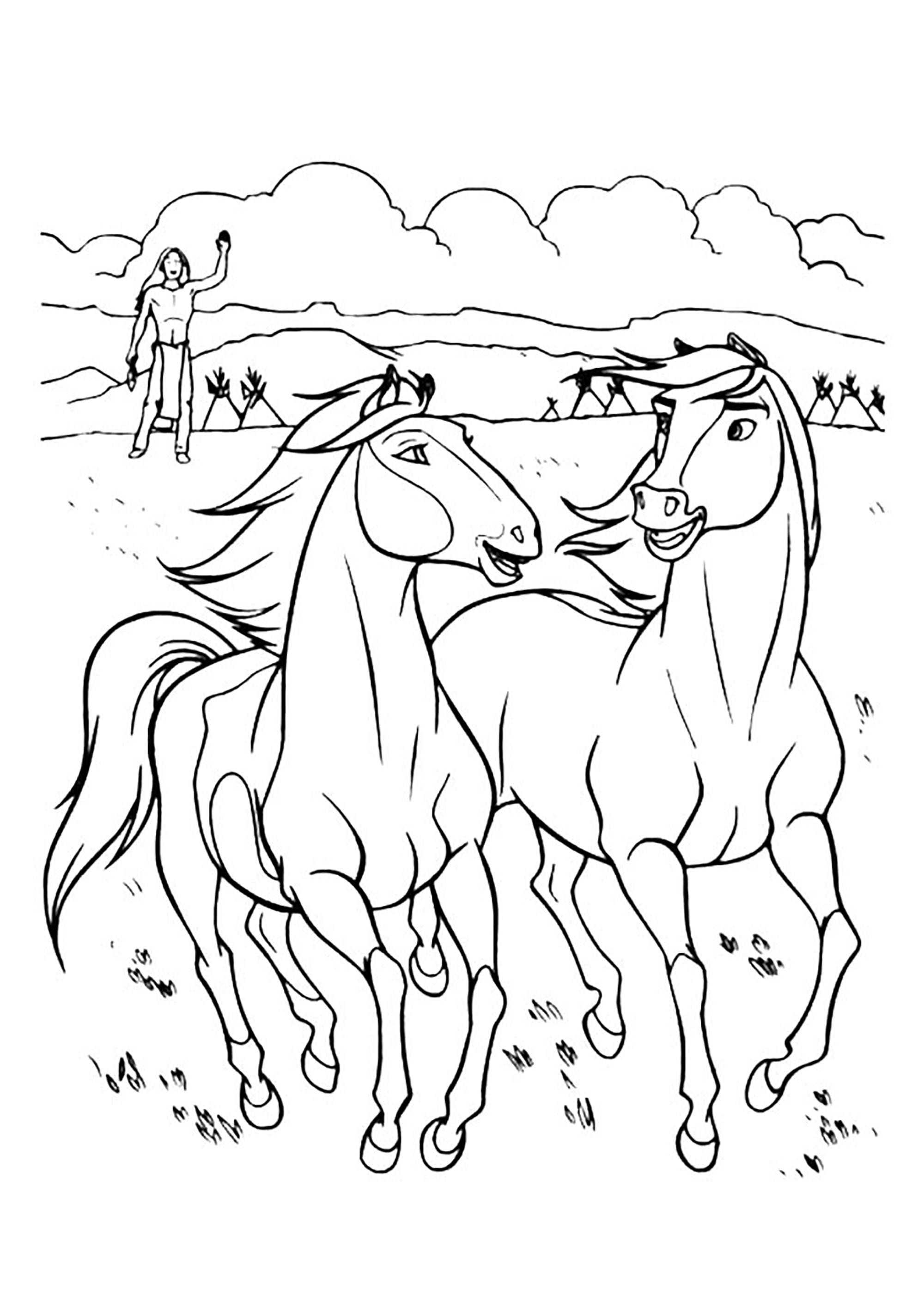 Spirit coloring page to print and color for free