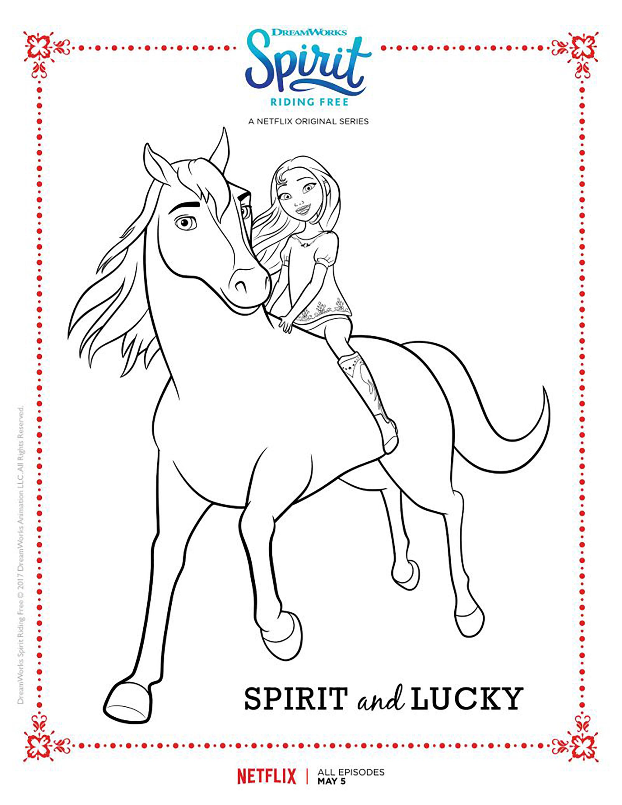 Funny Spirit coloring page for children