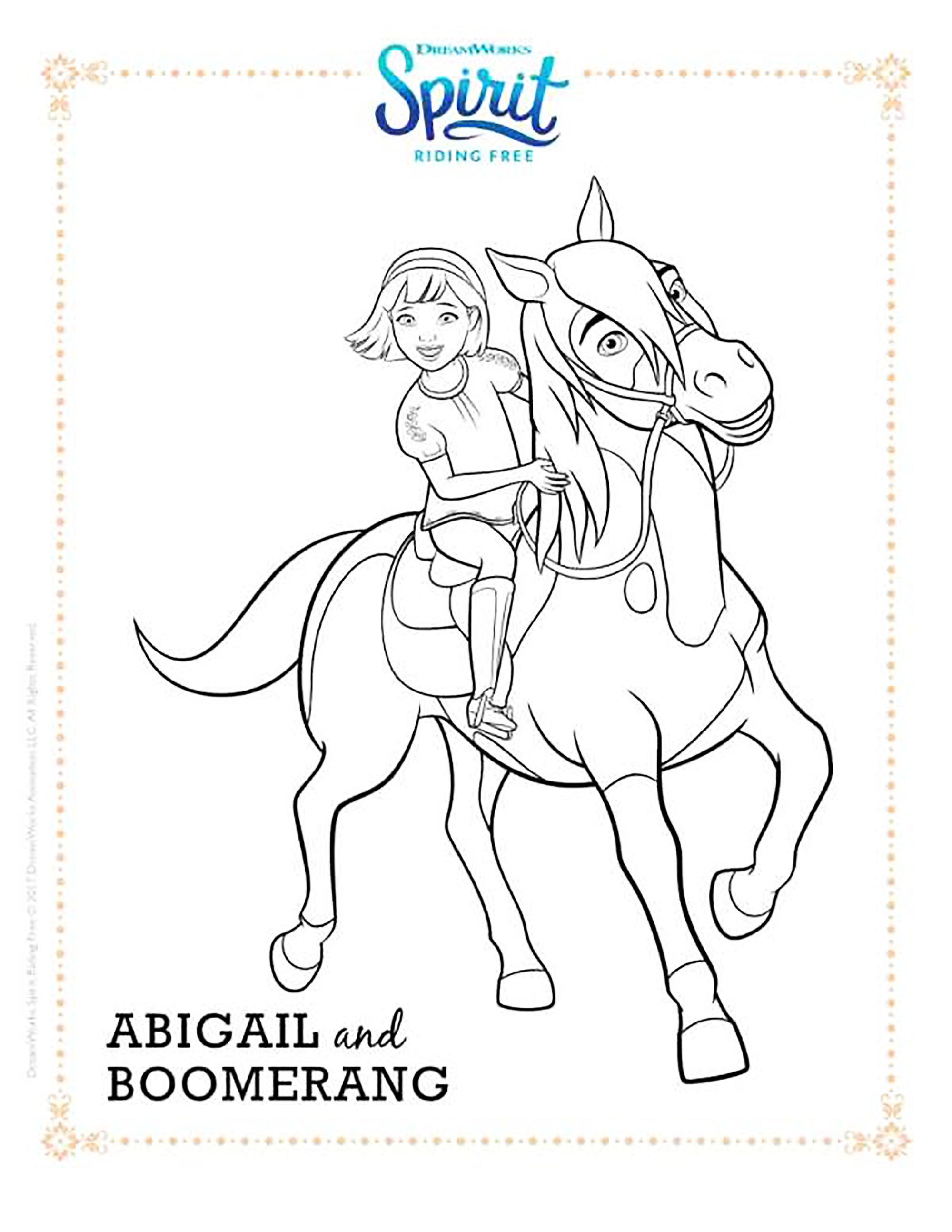 Beautiful Spirit coloring page