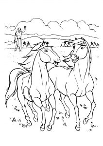 Spirit - Free printable Coloring pages for kids | 300x212