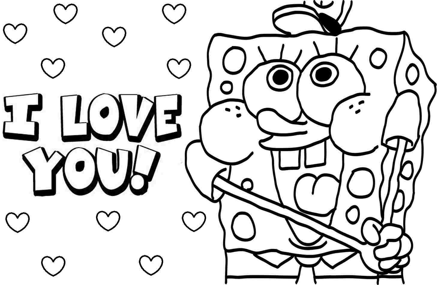 spongebob coloring page to download for free