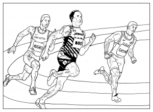 Coloring page sports for kids