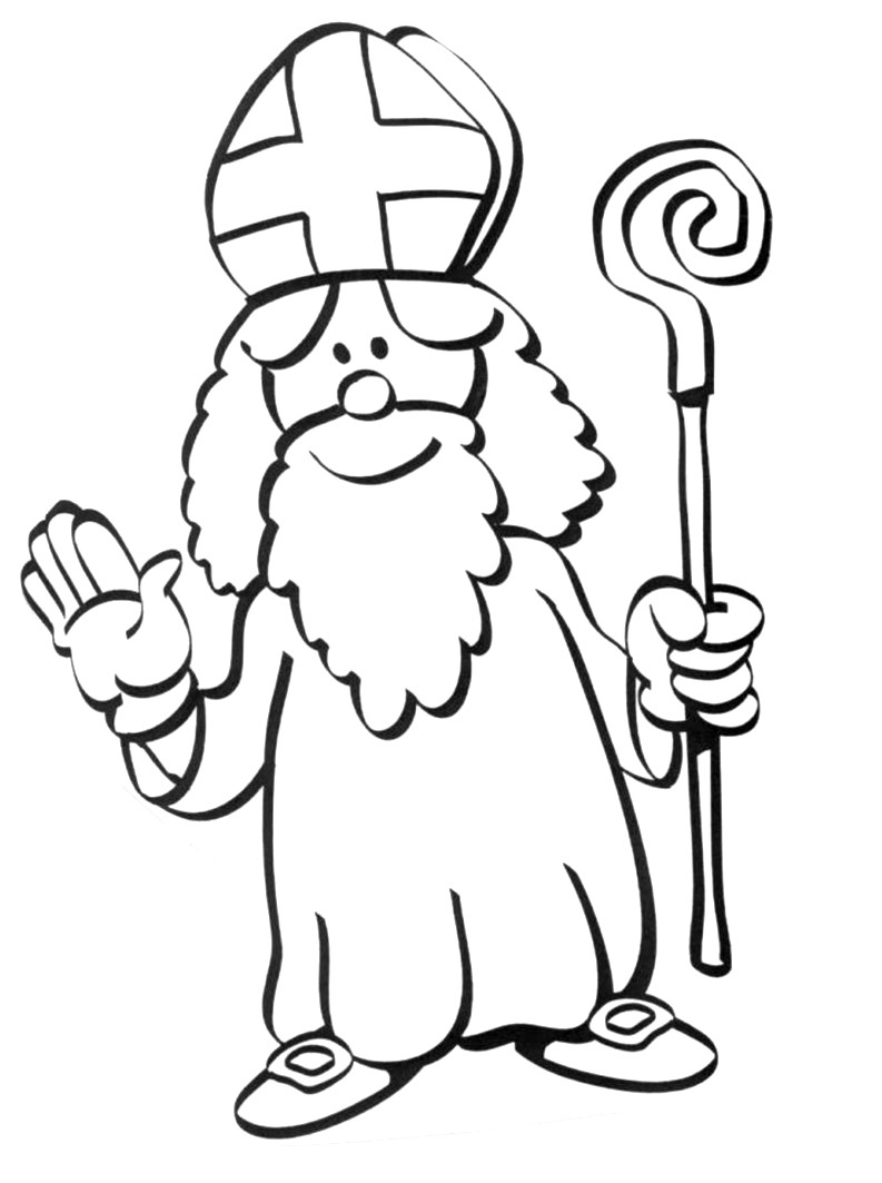 St Nicolas coloring page to download for free