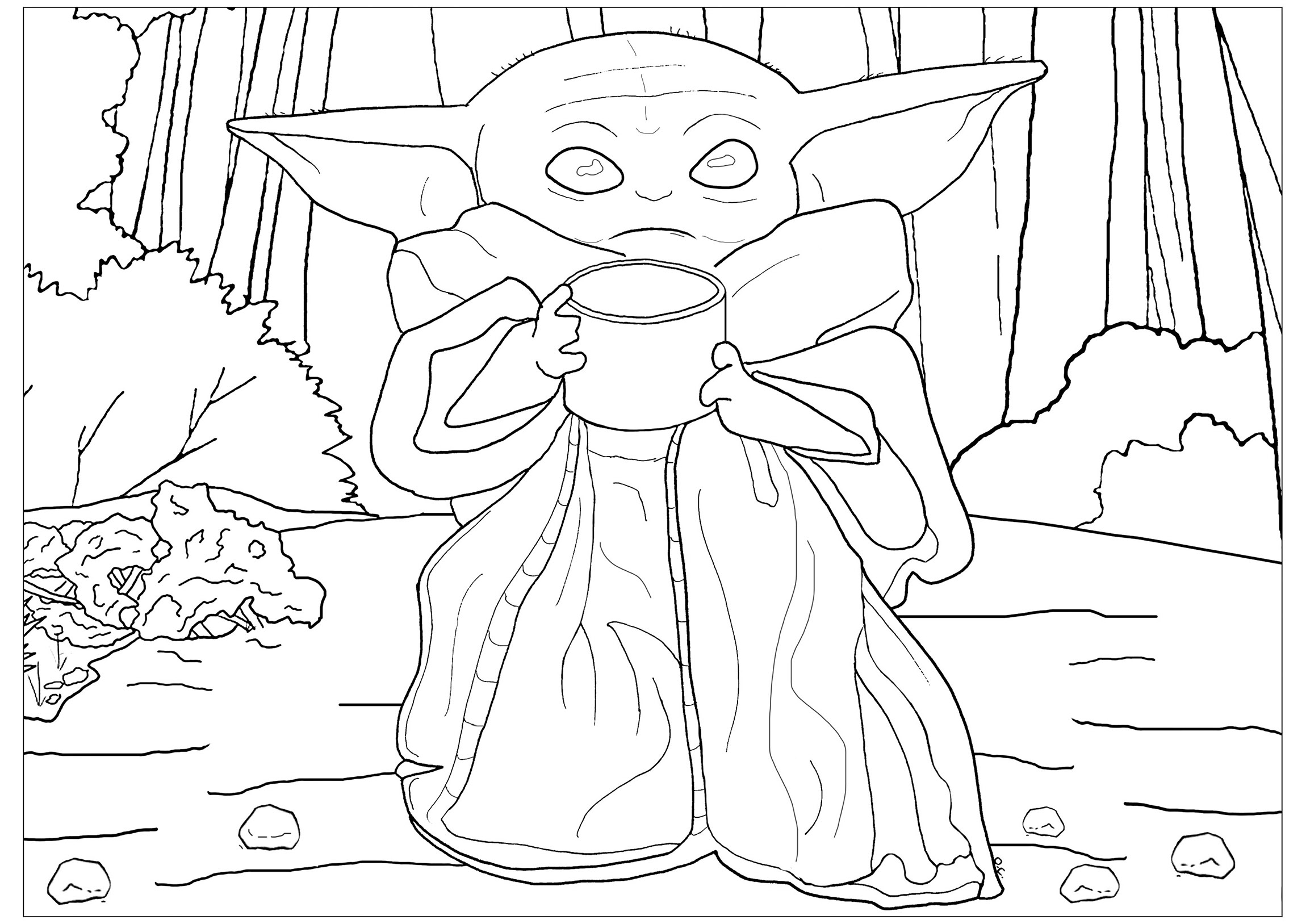 Free Star Wars coloring page to print and color, for kids