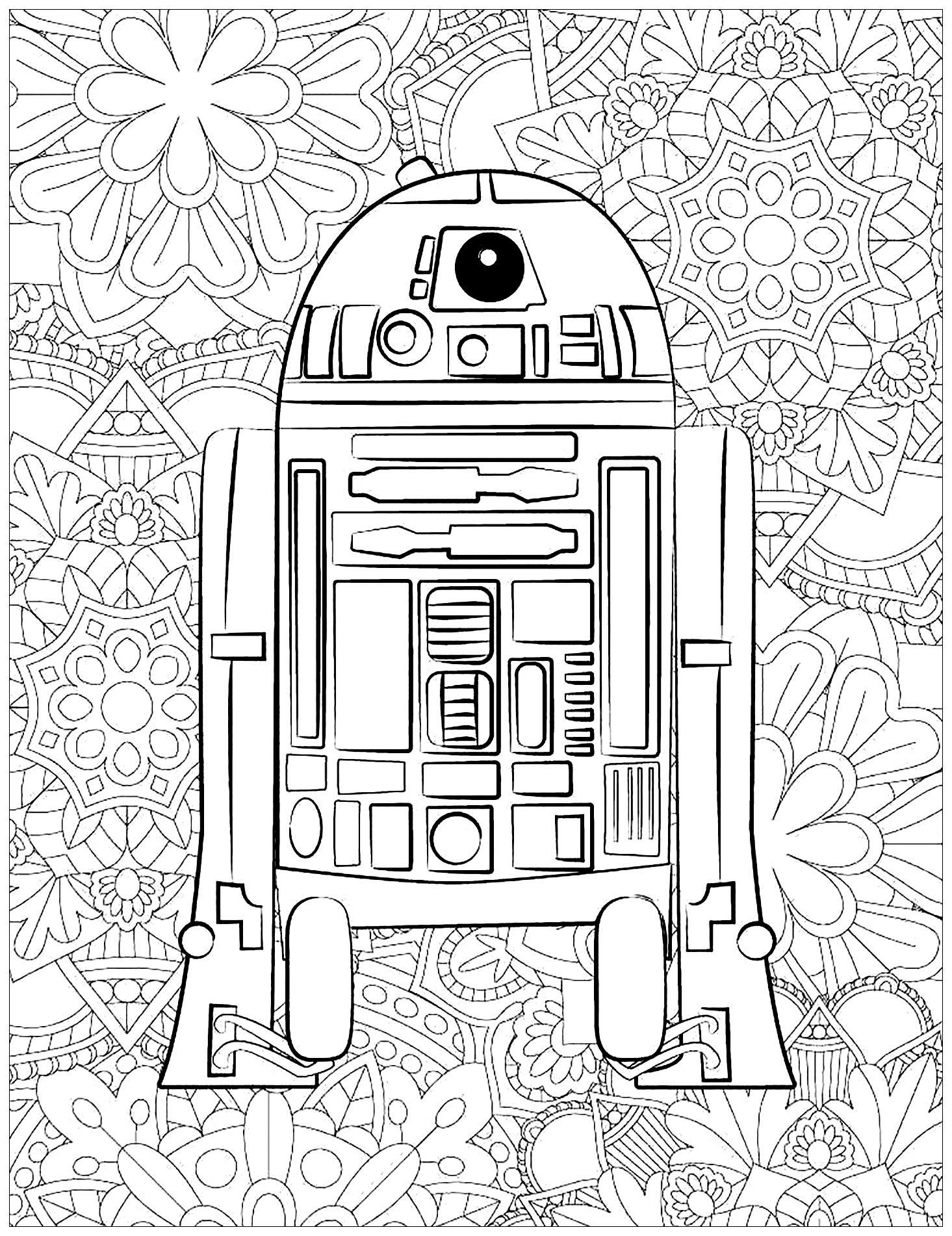 Easy free Star Wars coloring page to download