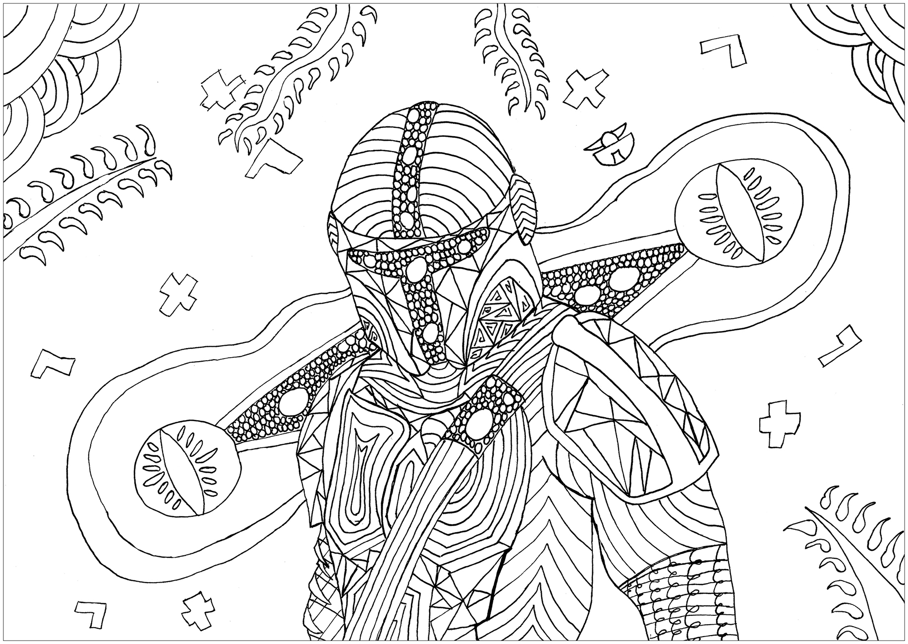 Free Star Wars coloring page to download, for children