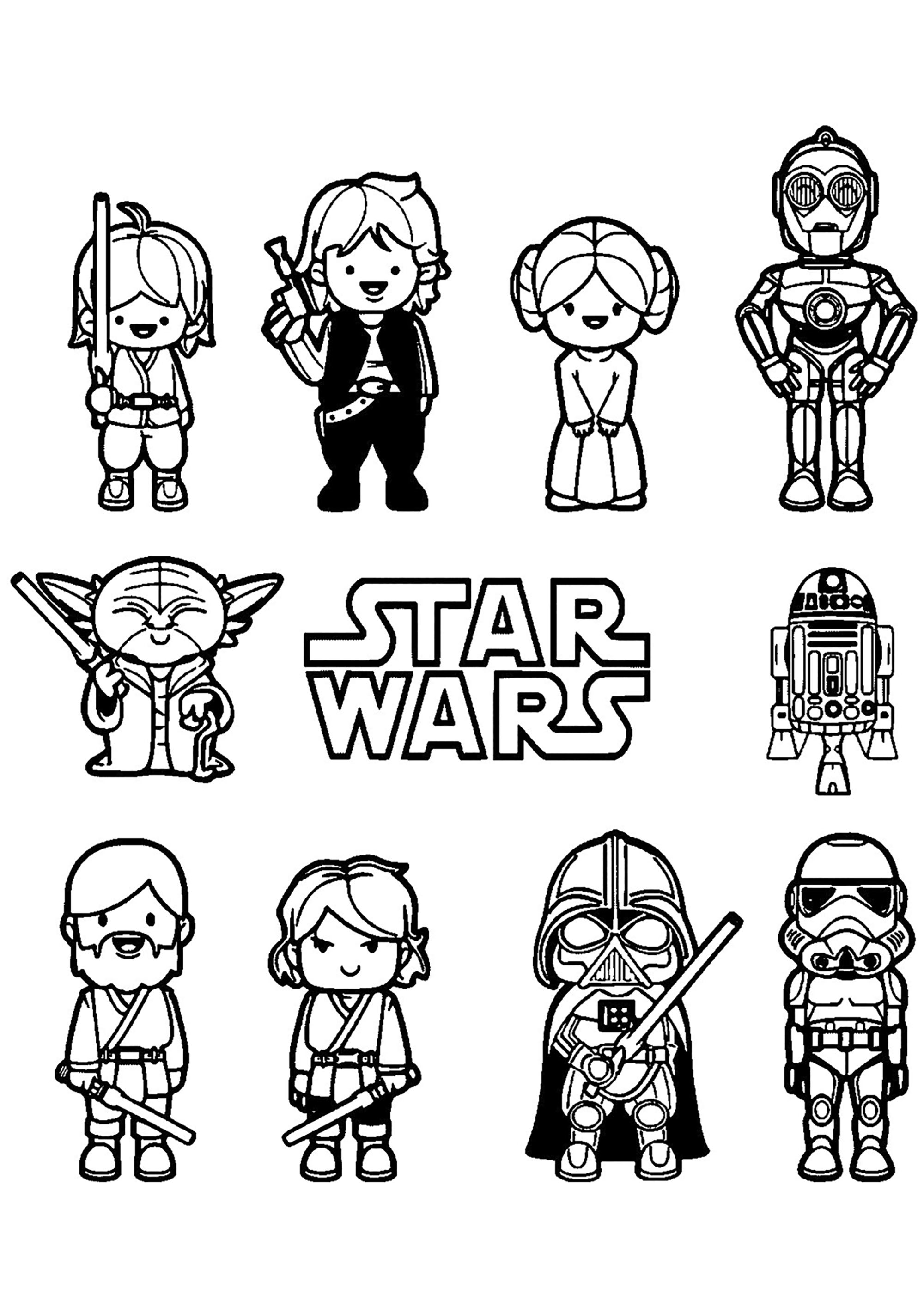 free coloring pages and star wars | Star wars free to color for kids - Star Wars Kids Coloring ...