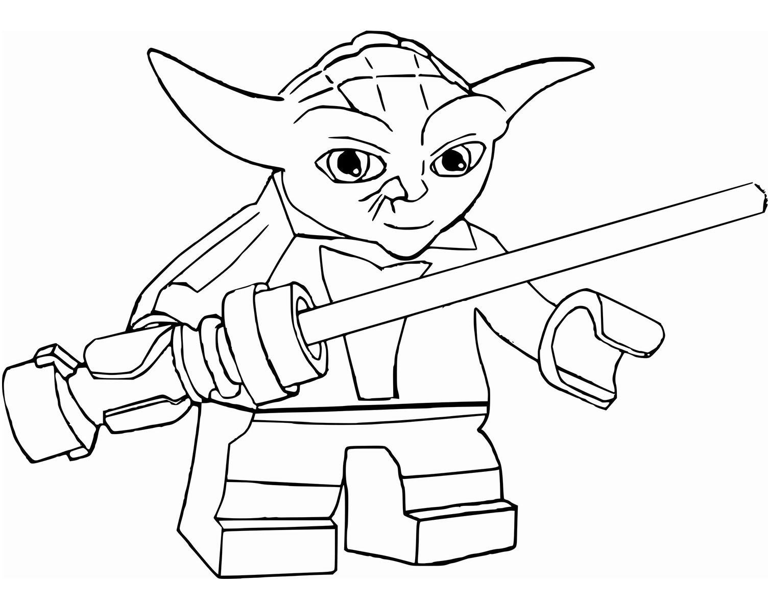 Simple Star Wars coloring page to print and color for free