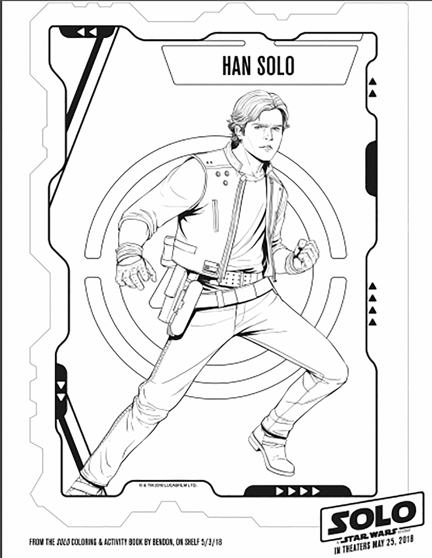 Cute free Star Wars coloring page to download