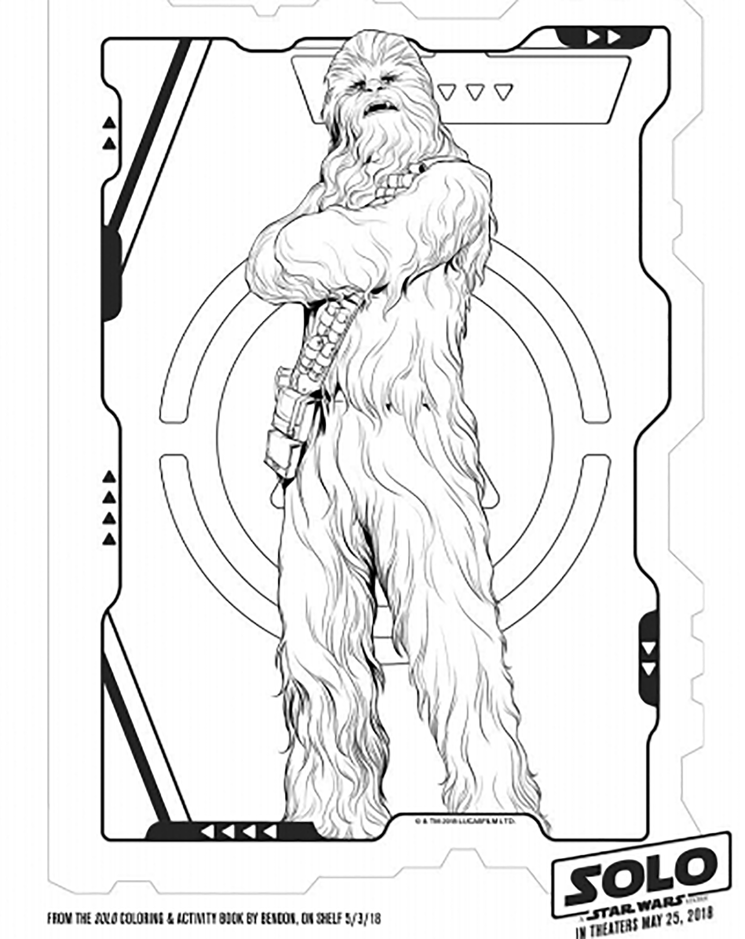 Star Wars coloring page to download for free
