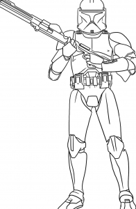 Coloring page star wars for kids