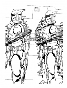 Coloring page star wars to print for free