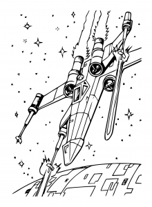 Coloring page star wars to print
