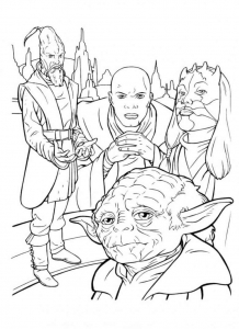 Coloring page star wars for children