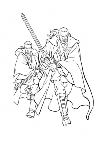 Coloring page star wars to color for kids